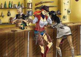 The Saloon by celucrator