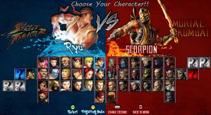 SF vs MK Character Selection by 2321351scorpion