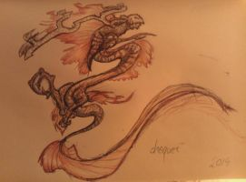 Sketch Book Dragon by Chequer