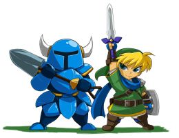 Bladed Heroes Line Up: SHOVEL KNIGHT by ShoNuff44