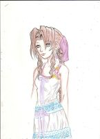 Aerith -colored- by A-Black-Angel