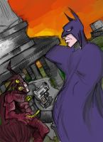 2Bats vs Batman by ZombieVomit619