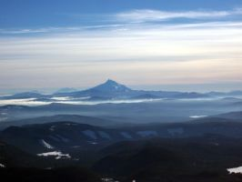 Mt. Jeffereson from Mt. Hood by unspoken411