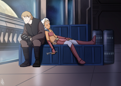 SW - Anakin and Ahsoka again by Renny08