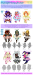 Adopts - Magical Girls 01 [sold!] by Ai-Bee