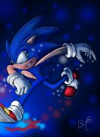 The Blue Blur  by b1uewhirlwind