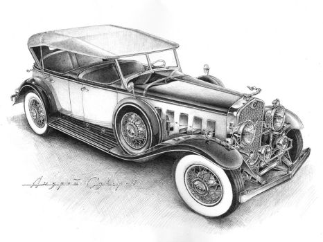 Cadillac Dual Coul Phaeton 1931 Front by andreysuvorov