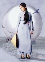 Ao Dai Dawn by MililaniMak