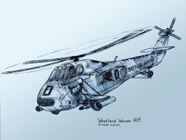 Westland Wessex HU5 by TheXHS