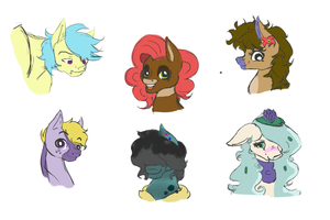 Random Adopted Oc Sketches by FluffleBear