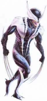 Symbiote Wolverine by Stalnososkovy by Nathan123qwe
