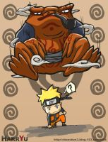 NARUTO AND frog by Harry-Yu