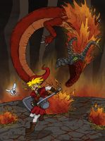 Dragon Fight by Wings-of-Art
