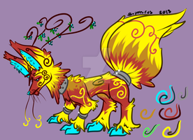 Fruit Inferno Kitsune +Feral design for sale+ by iSapphirus