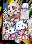 Poro Snuggles - ACEO by reaperfox