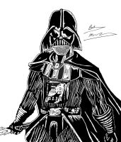 Darth Vader Inking by OptimumBuster