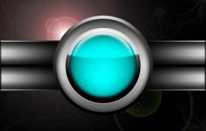 Red Button - Variation, Cyan by Varcolacu
