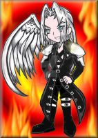 Sephiroth Coloured by TattooedMorrigan