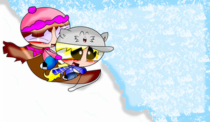 Megan and Me sledding adventures-PPG... by SpeedAtrsofPPG