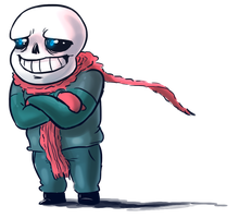 Sans in the cold by NegitiveX