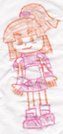 Doppelganger Arle Crayon Doodle by SurrealBrain
