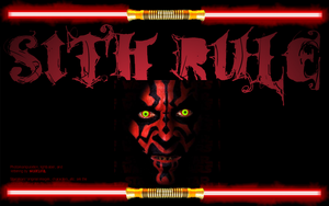 Wallpaper:Darth Maul Sith Rule by Eat-Sith