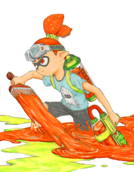 Splatoon Inkling by wavemstrelk