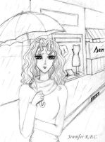 Sketch - Rain by Rose-sary