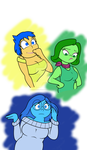 Inside Out's Joy, Disgust...and Sadness :) by Cartuneslover16