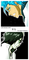 Grimmjow vs. Ulquiorra by some1ders13