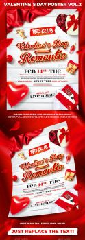 Valentine`s Day Party Poster vol.2 by 4ustudio