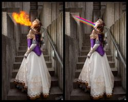 Princess Zelda: HYPER BEAM by RikkuGrape