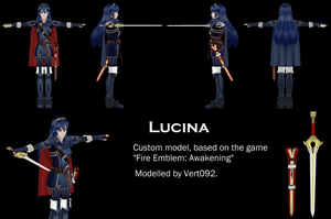 Lucina, custom Fire Emblem: Awakening model by Vert092