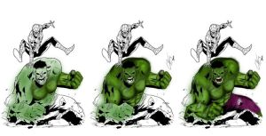 Spidey vs. Hulk Progression by CoDGuy