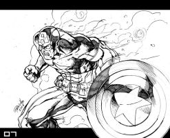 Marvel Heroes Captain America by Fpeniche