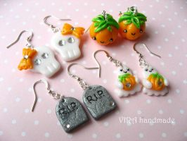 Halloween earrings by virahandmade
