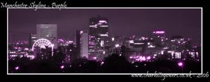 Manchester Skyline - Purple by small-onion