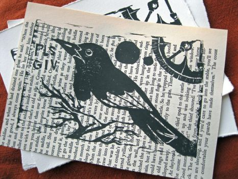 Pls Giv Magpie Print on Text by BeatingDeadHeroes