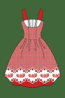 Strawberry dress by Black-Ofelia