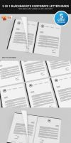 5 in 1 Black and White Corporate Letterheads by nazdrag