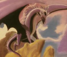 Dragon - Chalk Pastel by SirCrocell