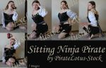 Exclusive Sitting Ninja Pirate by PirateLotus-Stock