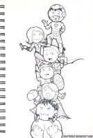 Avengers Tower (lines) by ShortieBat