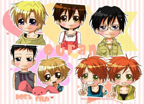 Ouran Host Club Chibi version. by ChabeEscalant
