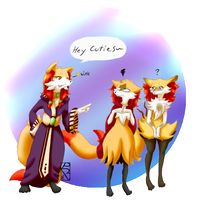 Foxy Witches by PoisonBannana