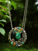 Emerald Sapphire Tribal Circle by AniqueDesigns