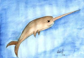 Narwhals Narwhals swimming in the Ocean by hatoola13