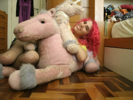 My Pink Horse and Unicorn by kirarachan