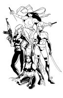 Marvel: Assassins INKS by AndrewKwan
