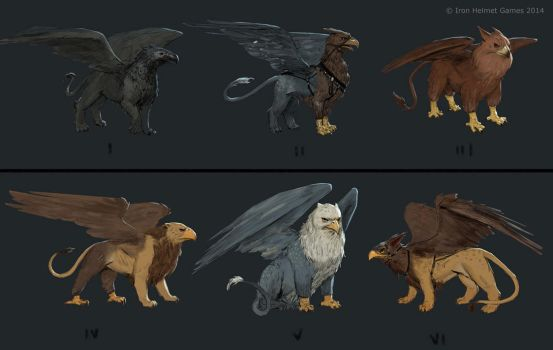gryphon sketches by texahol